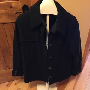 Wool rich new pea coat, xl.
